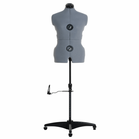 Milward Adjustable Dress Form with Hem Marker: Medium: Grey - Dress size: 14-20 (Tailors Dummy / Mannequin)