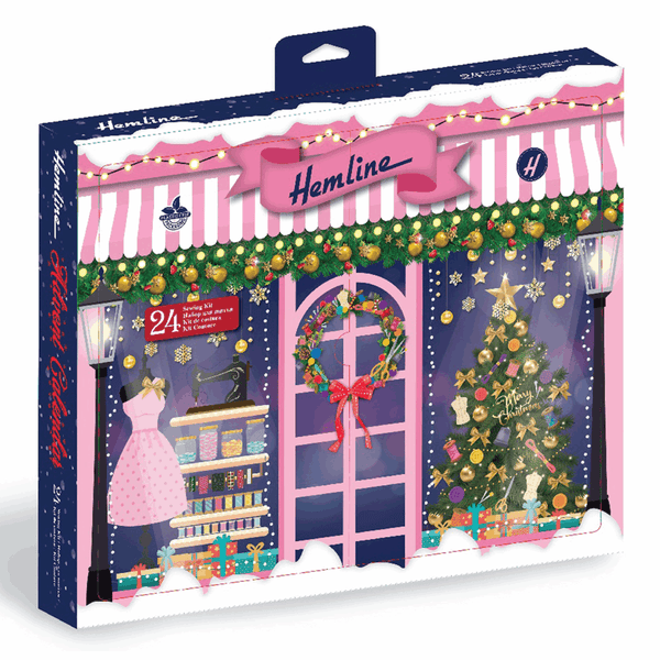 * Clearance * 2020 Christmas Advent Calendar 24 piece Sewing Kit - Damaged packaging, contents ok