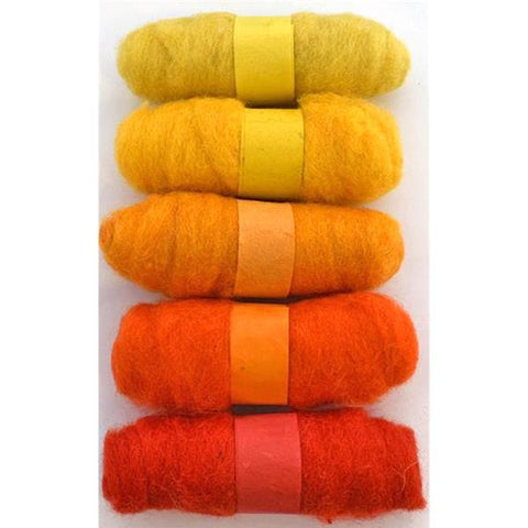 Felting Fibre Wool 20g - Assorted Yellows (5 Pack)