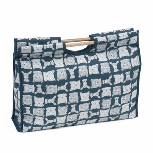Craft Bag with Wooden Handles - Folkstone