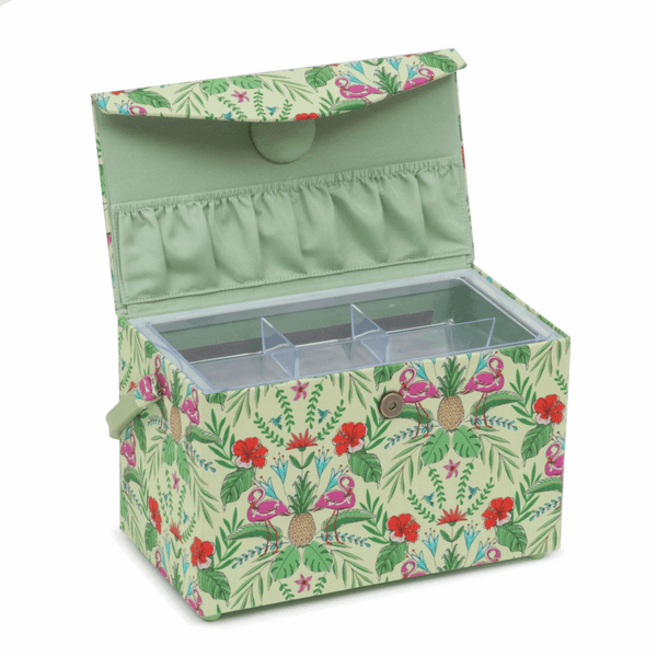 Sewing Box: Fold Over Lid: Tropical Lime