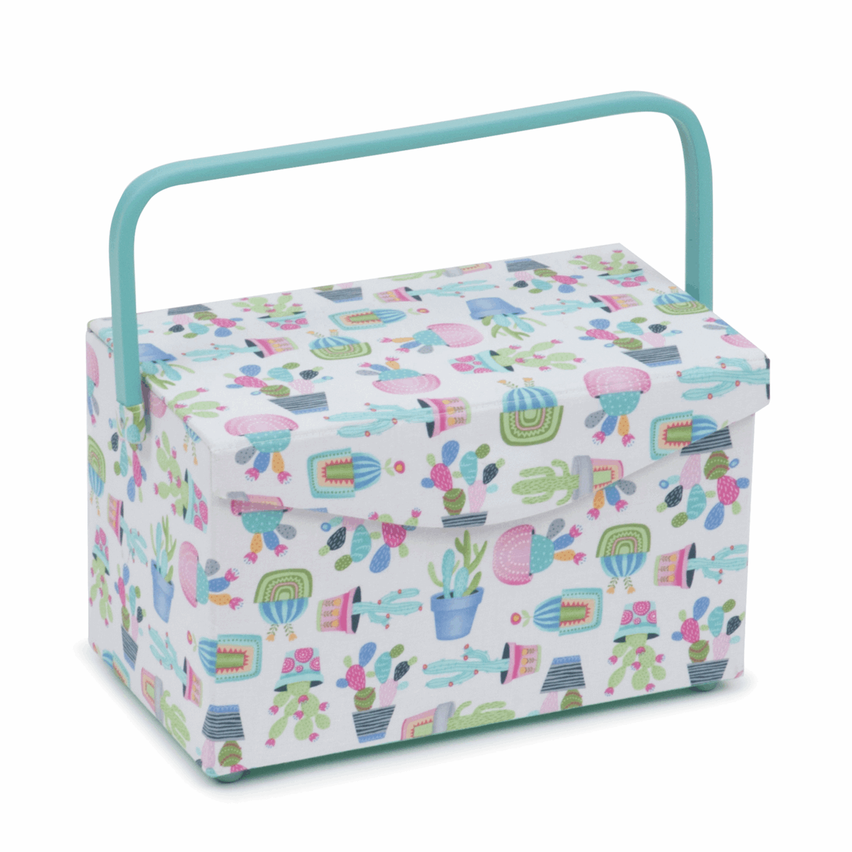 Sewing Box: Fold Over Lid: Cactus Party