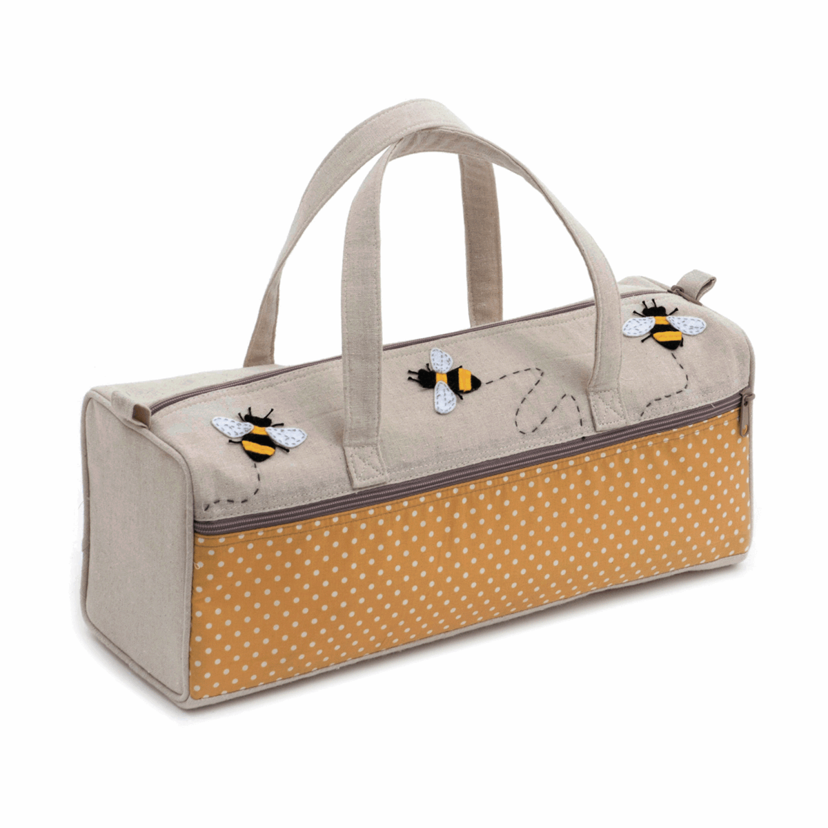 Bumble Bee Applique Knitting Bag
