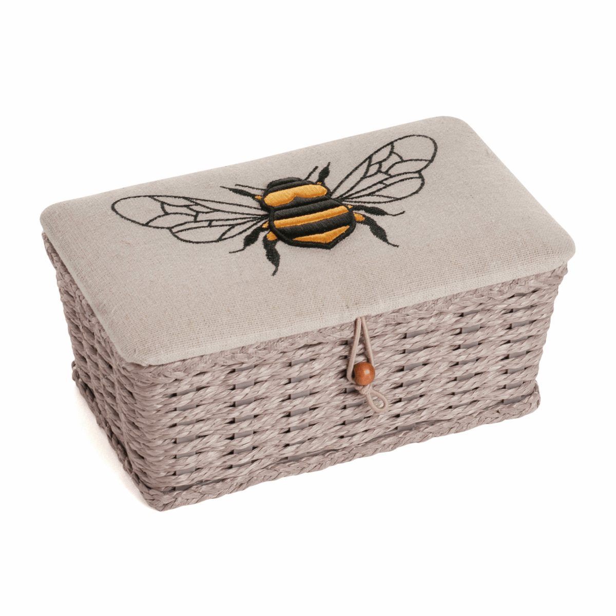 Bee Hive Linen Woven Sewing Box - Small