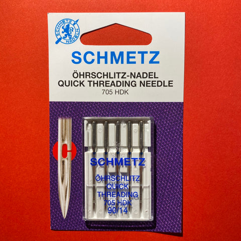 Schmetz Quick Threading Needle 705 HDK 90/14 - 5 pack