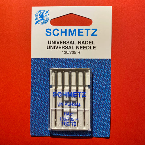 Schmetz Universal Needles 130/705 H 100/16 Medium to Heavy-weight - 5 pack