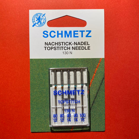 Schmetz Topstitch Needles 130 N Assorted 80 to 100 - 5 pack