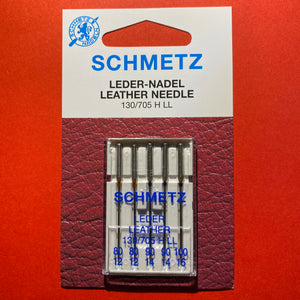 Schmetz Leather Needles 130/705 G LL Assorted 80 to 100 - 5 pack