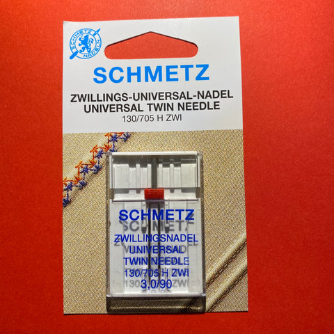 Schmetz Universal Twin Needle size 90, 3mm gap