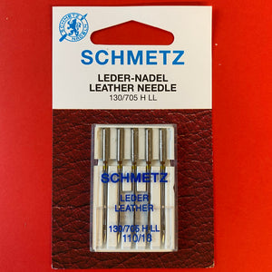 Schmetz Leather Needles 130/705 G LL 110 weight - 5 pack