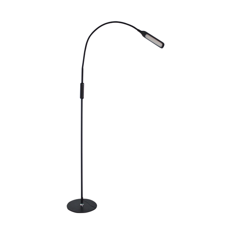 Native Lighting - Lumina Floor Lamp (Black - flexible goose neck LED light with 5 level lighting and 3 colour settings)