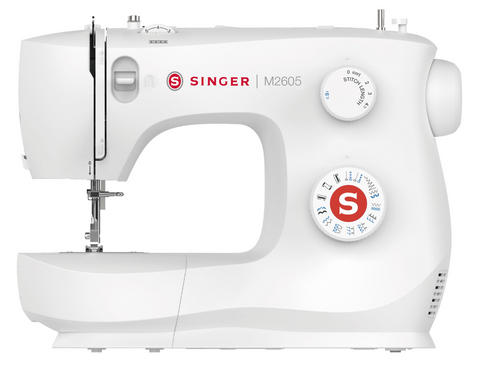 Singer MasterStitch 26 with Auto Needle Threader - with Stitch Length, ZigZag width control and Stretch stitches, Overcasting, Sew Silk to Leather - Preorder for February Delivery