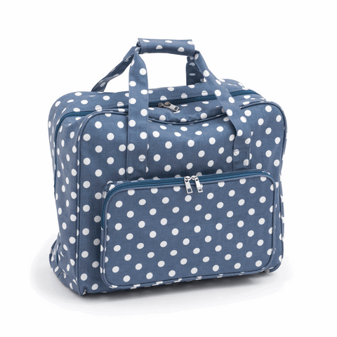 Denim Polkadot Sewing Machine Bag (Matt PVC)