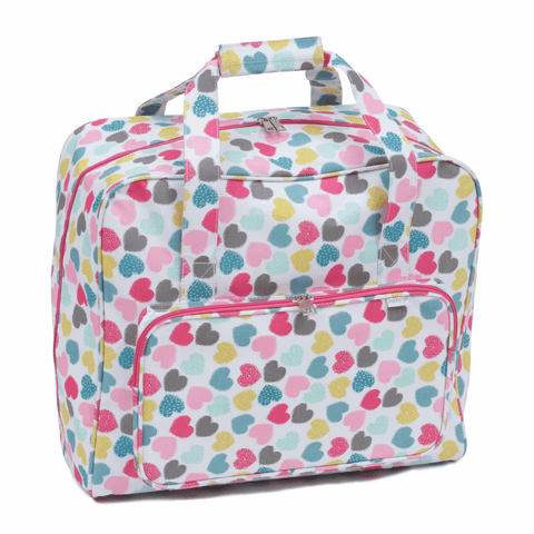 Love Sewing (Hearts) * offer * - Luxury Sewing Machine Bag with front pocket accessory storage
