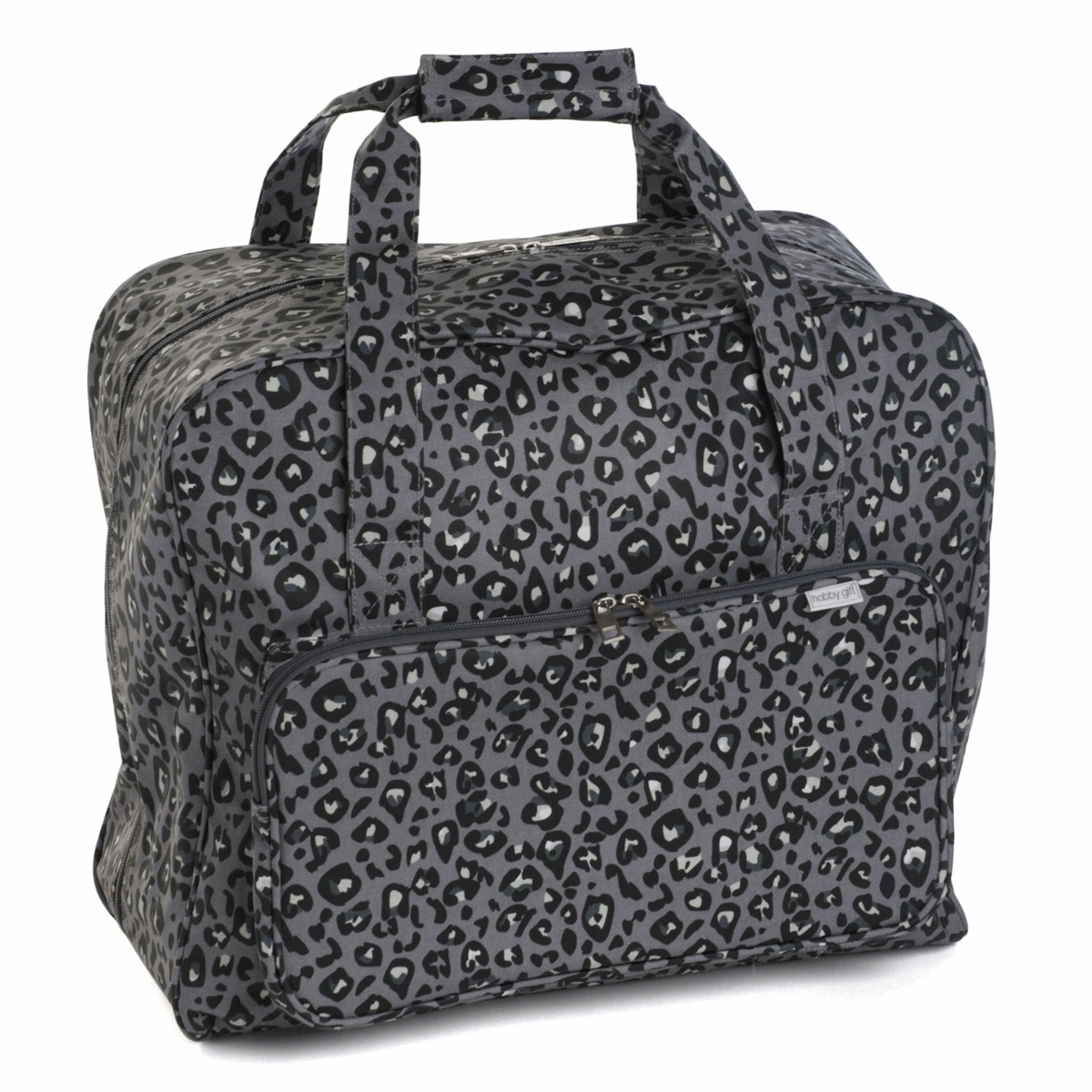 Leopard Sewing Machine Bag - Grey (Matt PVC)