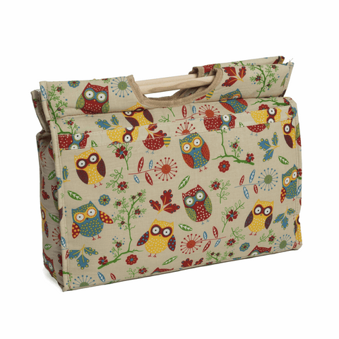 Owl Craft Box with Wooden Handles