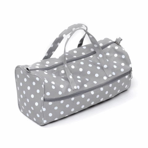 Grey Spot Knitting Bag