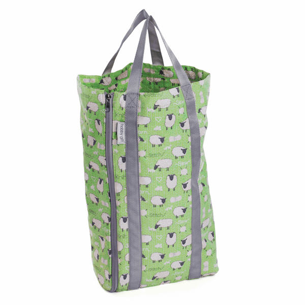 Deluxe Knitting Bag with Pin Storage (Reversible) - Sheep