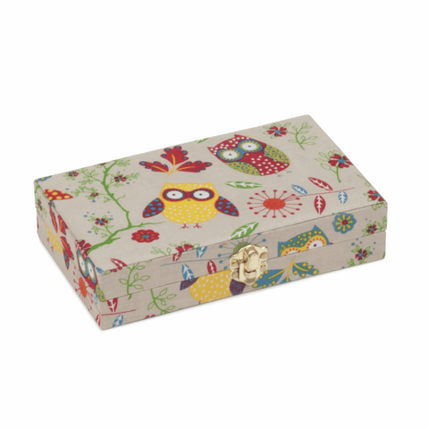 Bobbin Storage Box for 30 bobbins (Owl)