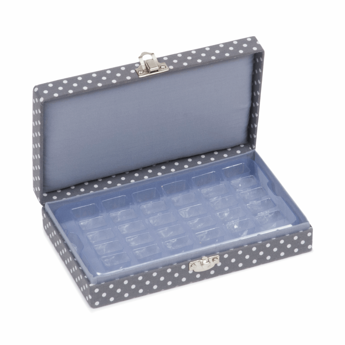 Bobbin Storage Box for 30 bobbins (Grey Spot)