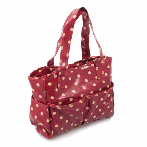 Red Spot Craft Bag - Glossy PVC