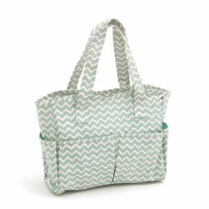Deluxe Chevron Craft Bag - Scribble Mint & Gold