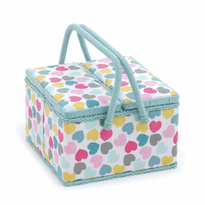 Love Sewing Box with Twin Lid - Large Square