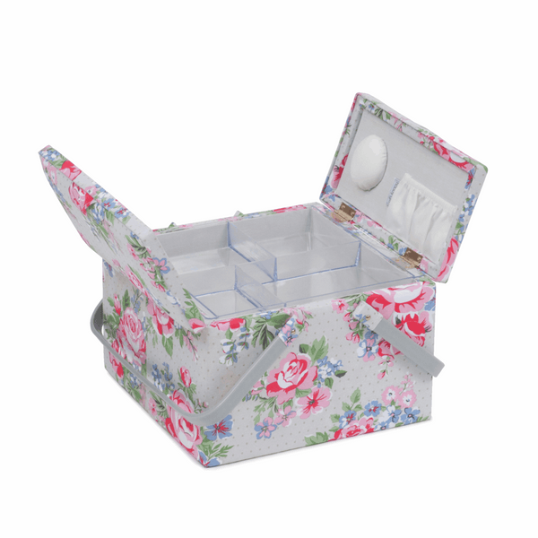 Rose Sewing Box with Twin Lid (L)