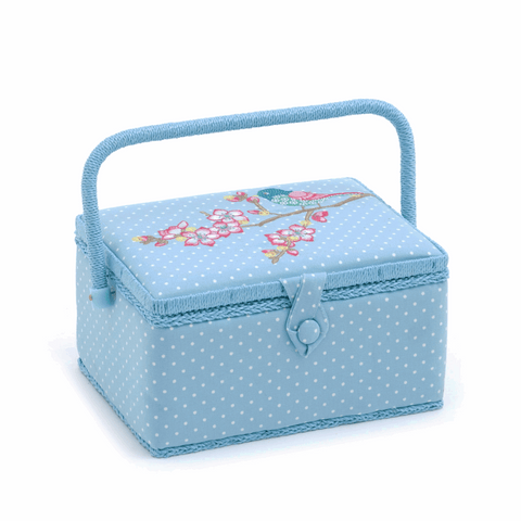 Embroidered Tweet Sewing Box - Medium