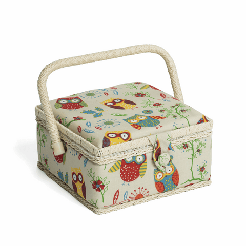 Owl Sewing Box - Small Square