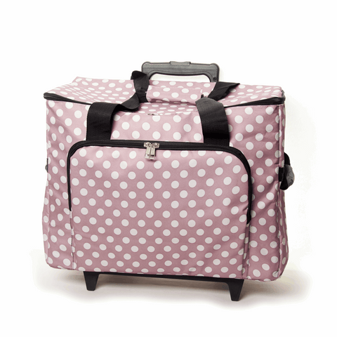 Mauve Spot Sewing Machine Trolley Bag
