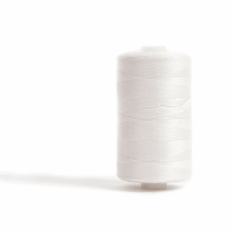 Thread 1000m Extra Large - Off White - for Sewing and Overlocking