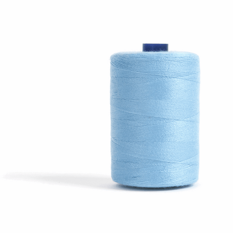 Thread 1000m Extra Large - Sky Blue - for Sewing and Overlocking