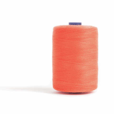 Thread 1000m Extra Large - Orange - for Sewing and Overlocking