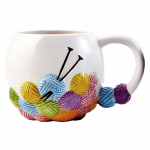 Knitting Design Ceramic Mug