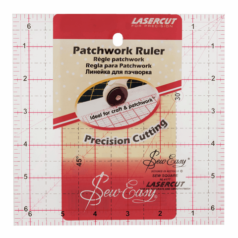 Sew Easy Square Quilting Ruler - 6.5 x 6.5in