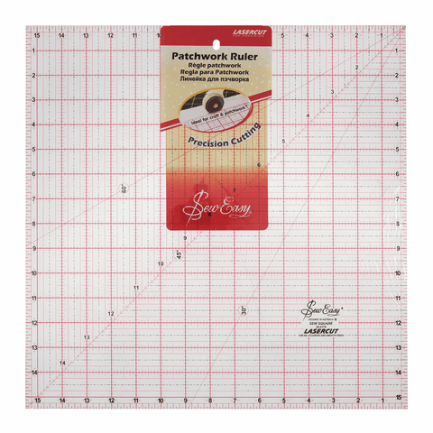 Sew Easy Square Quilting Ruler - 15.5 x 15.5in