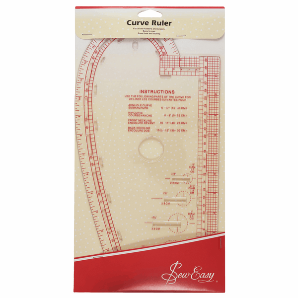Sew Easy Curved Ruler - 13.875 x 7.375in