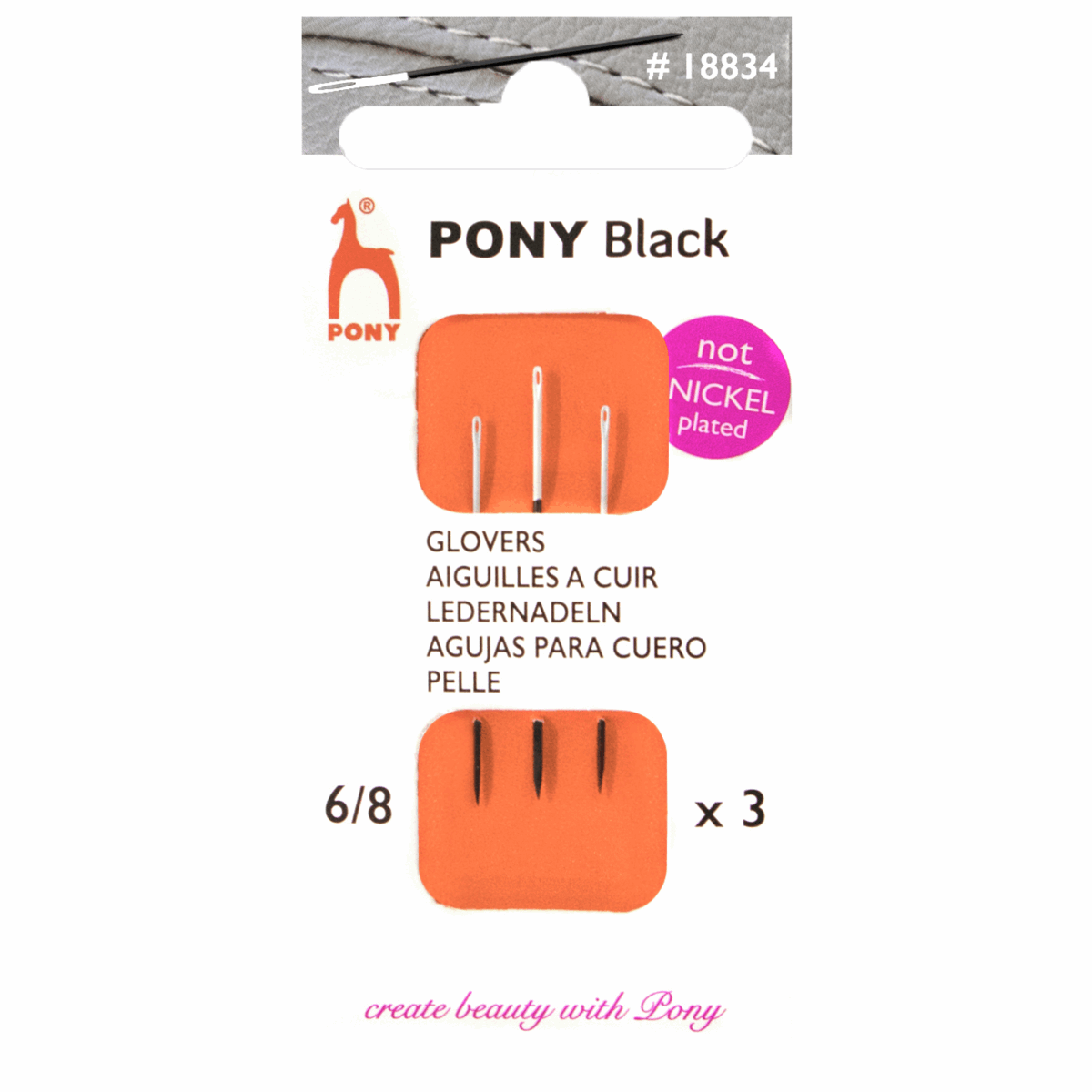 Pony Hand Sewing Glovers Needles Size 6-8