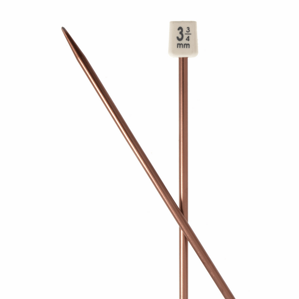 PONY Colour Single-Ended Aluminium Knitting Pins - 30cm x 3.75mm