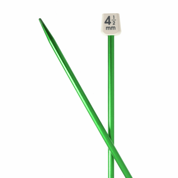 PONY Colour Single-Ended Aluminium Knitting Pins - 35cm x 4.50mm