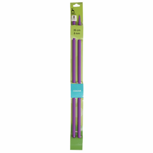 PONY Single-Ended Coloured Plastic Knitting Pins - 35cm x 8mm