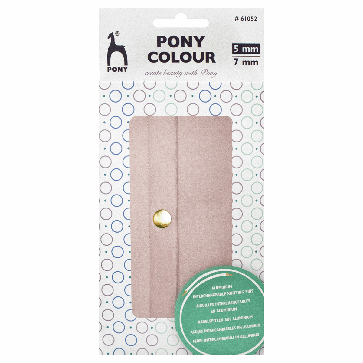 PONY Colour Interchangeable Circular Knitting Needles Set - 5-7mm