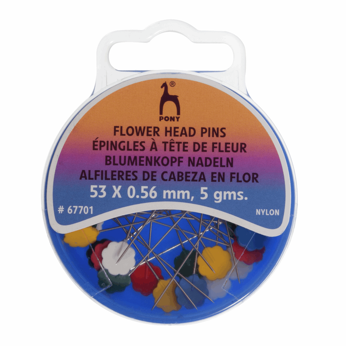PONY Flower Head Pins