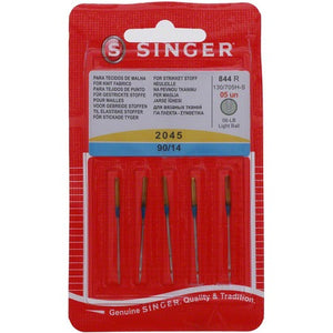 5 x Singer Stretch (Ball Point) Needles (2045) 90/14