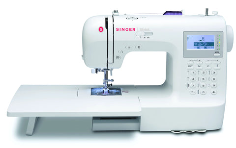 Singer Stylist 9100 - March Offer - includes Extension Table * Great for Intermediate to Professional sewing with 400 stitch patterns inc. Letters and numbers, Auto Tension
