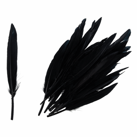 Trimits Duck Feathers - Black (Pack of 24)