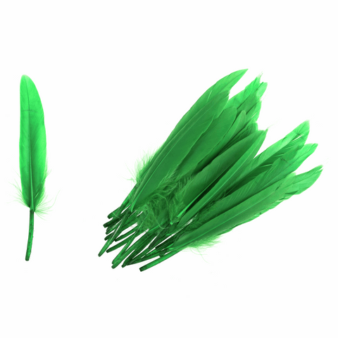 Trimits Duck Feathers - Green (Pack of 24)