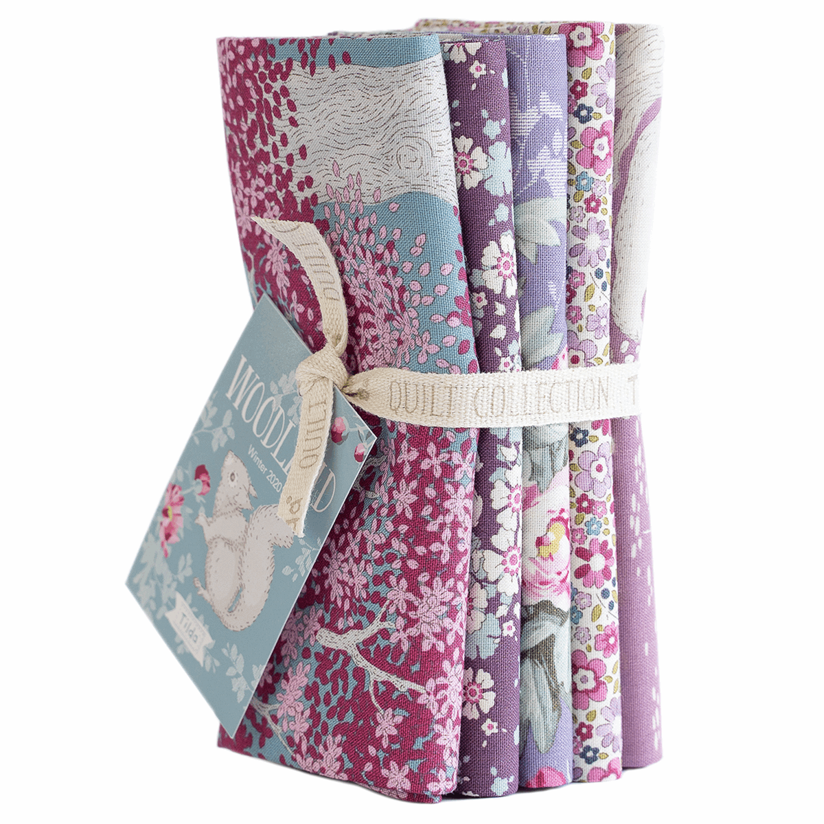 Tilda - Woodland Fat Quarter Bundle - 50 x 55cm - 5 Pieces - Lilac/Lavender * Limited Edition *
