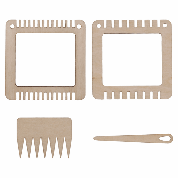 Weaving Set: Two Small Frames, Comb & Needle
